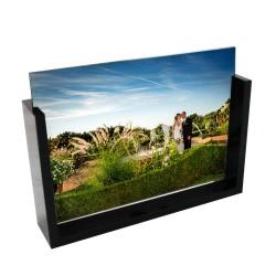 Photo sur verre avec cadre acrylique